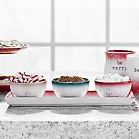 Speckle Bowls On Tray, Set of 4