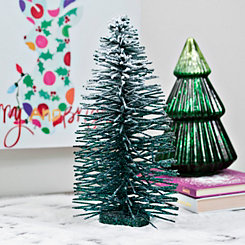 Frosted Bottle Brush Christmas Tree, 14 in.