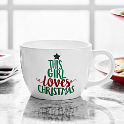 This Girl Loves Christmas Ceramic Mug