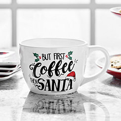 But First Coffee Then Santa Ceramic Mug