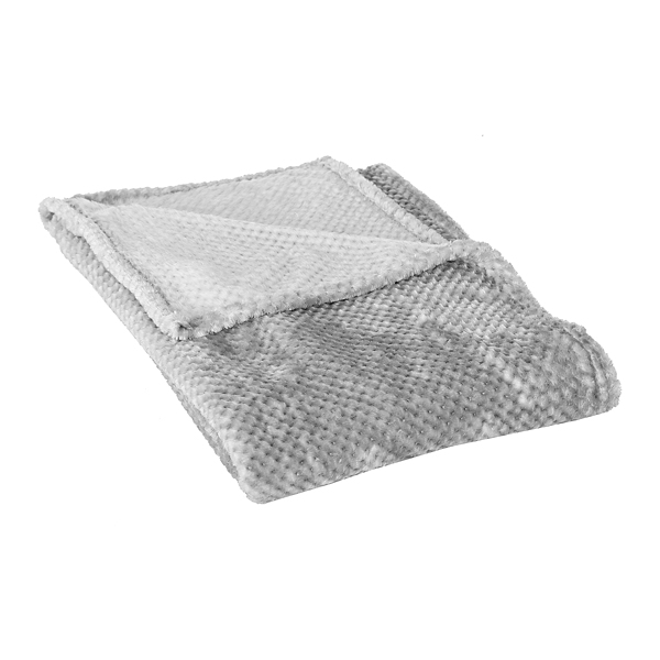 gray bubble heavenly throw blanket
