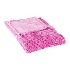 Hot Pink Bubble Heavenly Throw Blanket