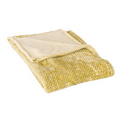 Yellow Bubble Heavenly Throw Blanket