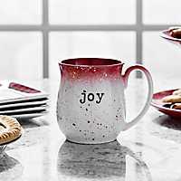 Red Speckle Joy Stoneware Mug