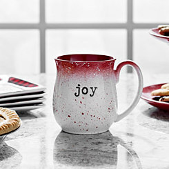 Red Speckle Joy Stoneware Mug