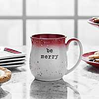Red Speckle Be Merry Stoneware Mug