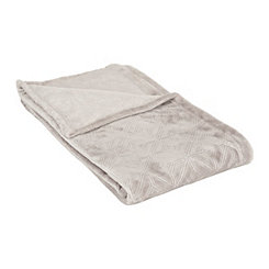 Gray Embossed Diamonds Blanket