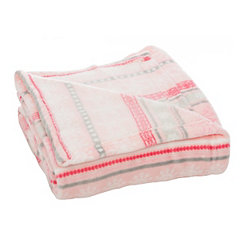 Pink Nordic Plush Throw