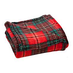 Tartan Plaid Plush Throw