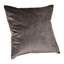 Charcoal Velvet Stitch Pillow