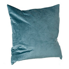 Teal Velvet Stitch Pillow
