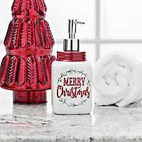 Merry Christmas Ceramic Soap Pump