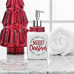 Merry Christmas Ceramic Soap Pump
