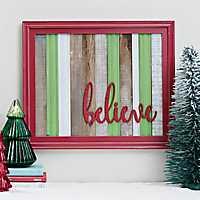 Believe Plank Framed Wall Plaque