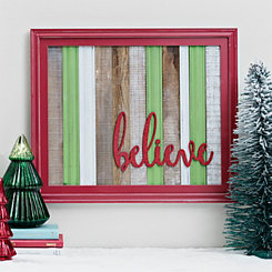 Believe Plank Framed Wall Plaque