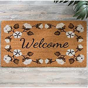 Cotton Blossoms Welcome Doormat