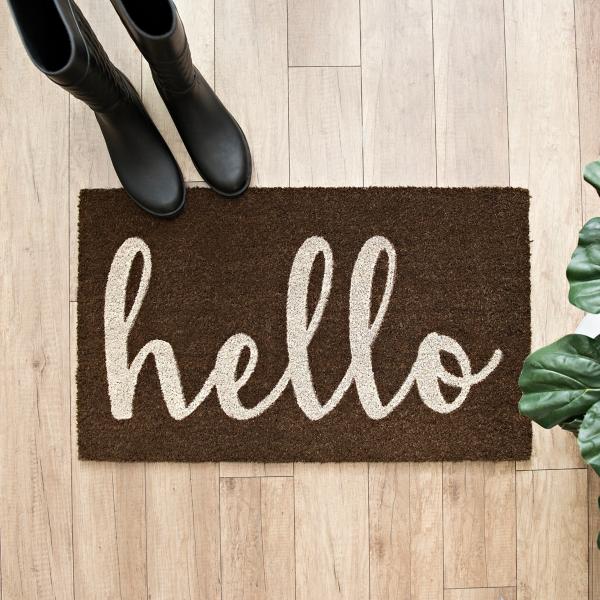 Brown Hello Doormat