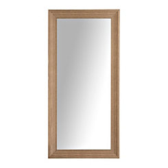 Natural Woodgrain Framed Mirror 24x58