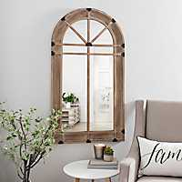 Natural Wooden Arch Mirror