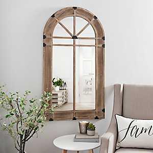 Natural Wooden Arch Mirror