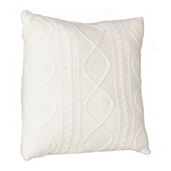 Ivory Cable Knit Sweater Pillow