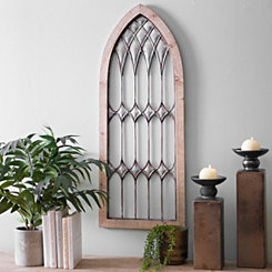 Galvanized Metal and Wood Cathedral Arch Plaque