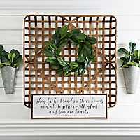 Woven Natural Bamboo Tobacco Basket