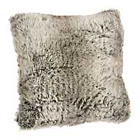 Gray Faux Fur Pillow