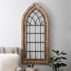 Rustic Metal and Wood Arch Plaque
