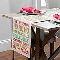 Christmas Typography Table Runner