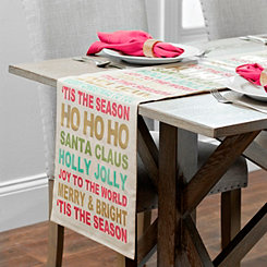 Christmas Typography Table Runner