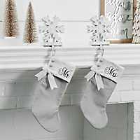 Mr. and Mrs. Gray Christmas Stockings, Set of 2