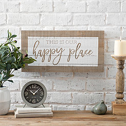 Our Happy Place Screen Printed Pallet Block