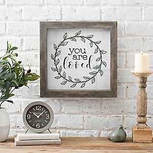 You are Loved Wreath Wall Plaque