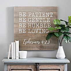 Ephesians 4 Screen Printed Pallet Block