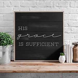 His Grace is Sufficient Wall Plaque