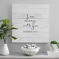 I Am Always with You Screen Printed Pallet Block