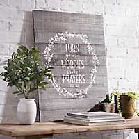 Turn Your Worries Wooden Wall Plaque