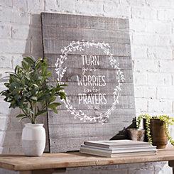 Turn Your Worries Wooden Wall Plaque