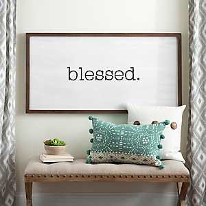Blessed Wooden Board with Lip Wall Plaque