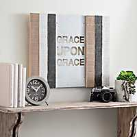 Grace Upon Grace Wood Pallet with Metal Insert
