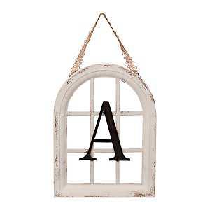 Mini Monogram Windowpane Plaque