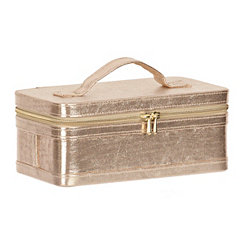 Gold Zippered Train Case