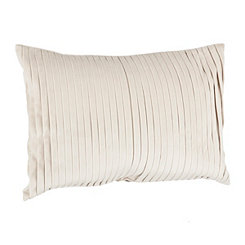 Natural Pleated Velvet Accent Pillow