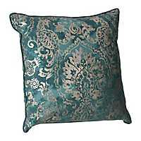 Aqua Foil Print Pillow