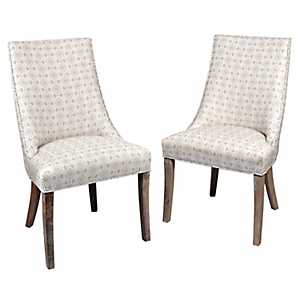 Abigail Wright Side Dining Chairs, Set of 2