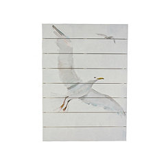 Soaring Gull Wood Art Print