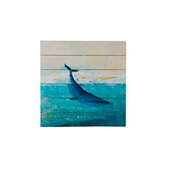 Whale Dive Wood Art Print