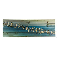 Birds in Flight Wood Art Print