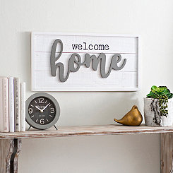 Welcome Home Pop Up Wooden Wall Plaque